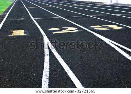 A picture of an oval running track