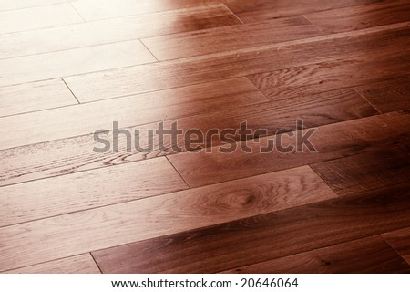 a picture of oak wood flooring up close - stock photo