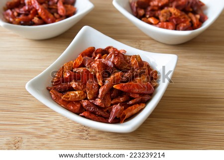 a picture of some food spices or ingredients: chili