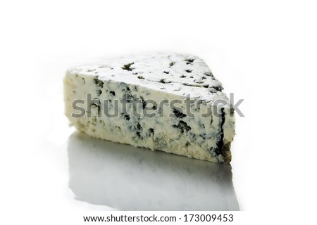 A piece of blue cheese.