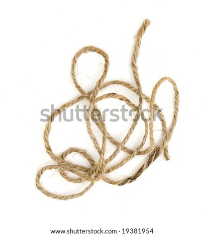 A piece of brown twine