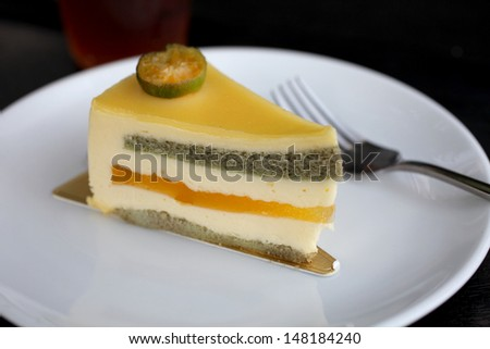 A piece of cake - stock photo