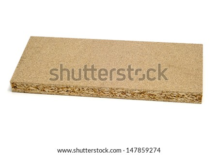 a piece of particle board on a white background