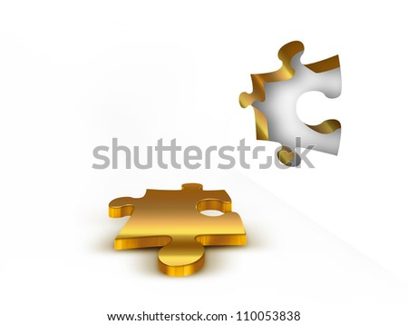 a piece of the puzzle on a light background