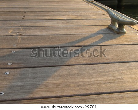 A pier at the WTC site - stock photo