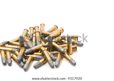 A pile of 22 caliber cartridges
