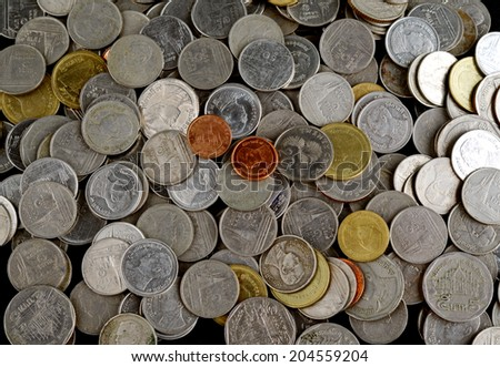 A pile of coins - stock photo