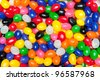 A pile of colorful candy Easter jellybeans - stock photo