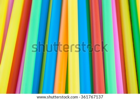 A pile of colorful straws.