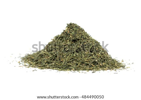 a pile of dried dill on white