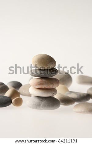A pile of eight stones balancing on top of each other