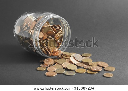 A pile of euro-cents business concept