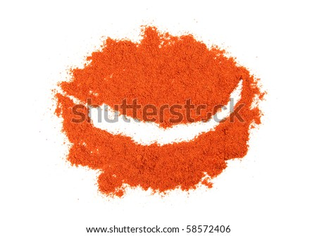 A pile of ground chilly pepper - stock photo