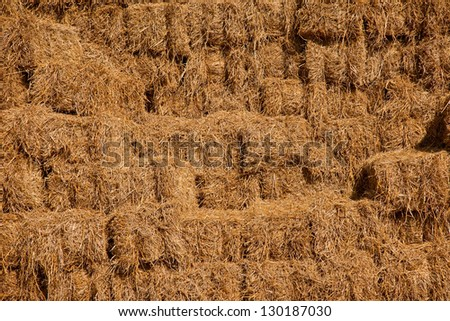 A pile of hay stack. - stock photo