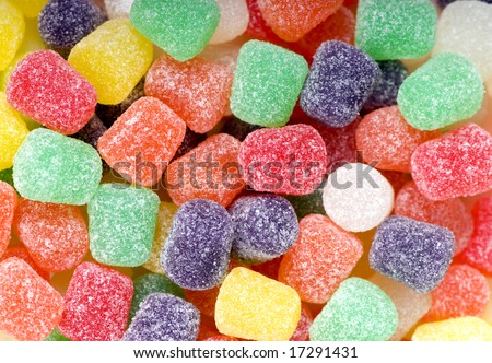 A pile of inviting spice drop candies, ready to eat. - stock photo