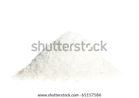A pile of salt isolated on a white background - stock photo