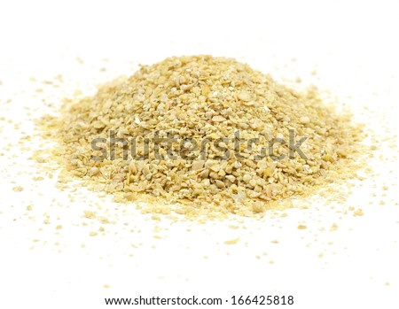 A pile of soybean meal, an ideal organic fertilizer - stock photo