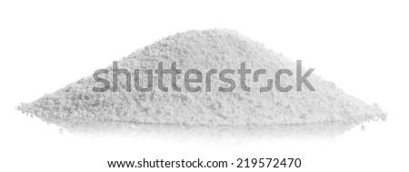 A pile of washing powder isolated on white - stock photo