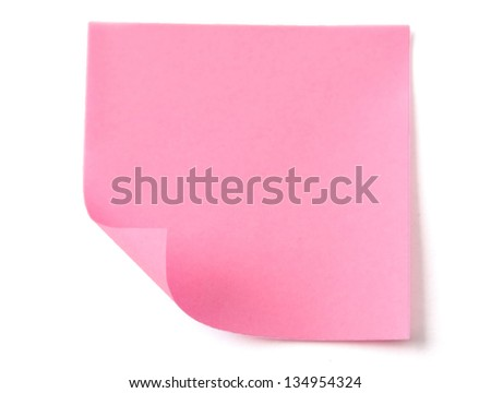 A pink note