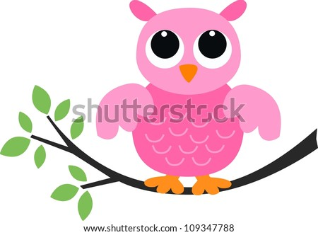 a pink owl - stock photo