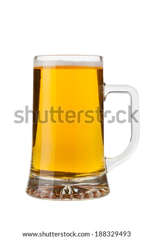 A pint of quiet beer isolated on white background