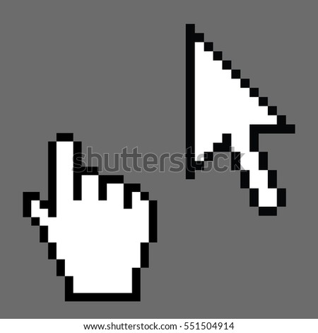 A Pixel cursors icons, mouse Illustration