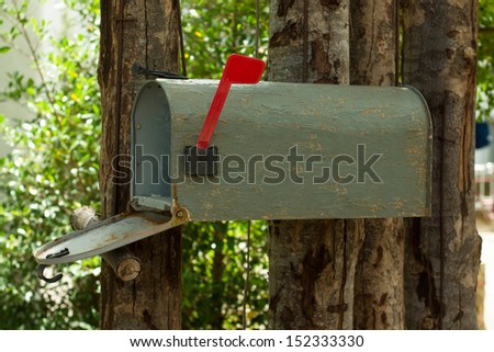 a plain grey Mailbox - stock photo