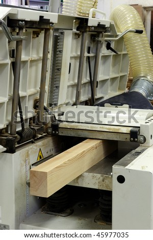 a planer tickness  machine for wood
