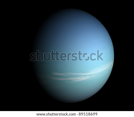 A planet beyond our solar system. Isolated on black. - stock photo