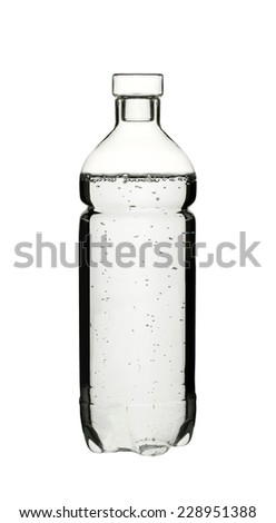 A plastick bottle of water - stock photo