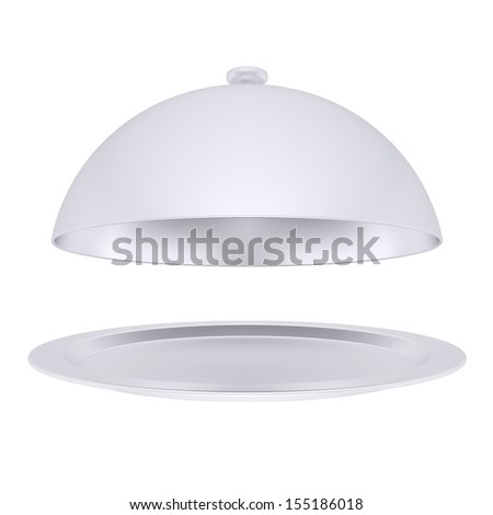 A plate with metal cover. Isolated render on a white background