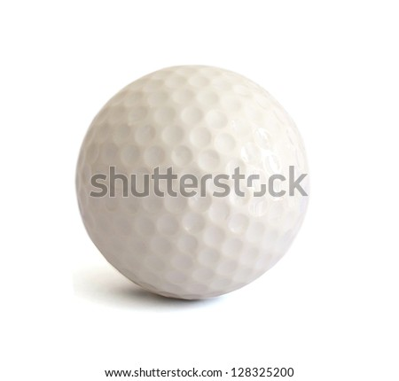 A playing golf ball game - stock photo