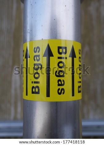 a plug valve for biogas  - stock photo