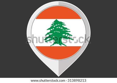 A Pointer with the flag of Lebanon