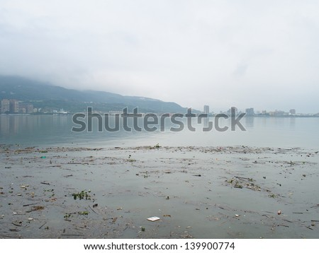 A Polluted River - stock photo