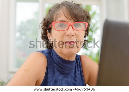 mature glasses and in Boy woman