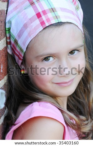 A portrait of a beautiful young girl