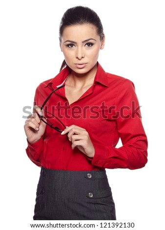 A portrait of Asia business woman. - stock photo