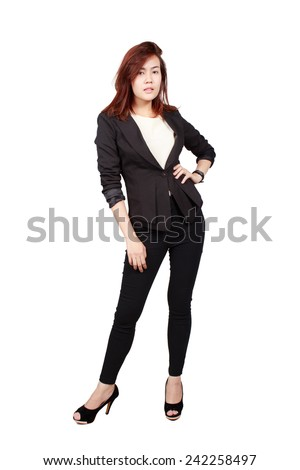 a portrait of beautiful asian businesswoman