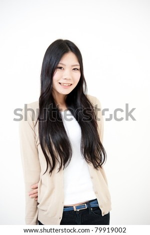 a portrait of beautiful asian woman