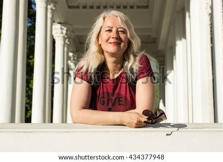 A portrait of beautiful middle-aged woman