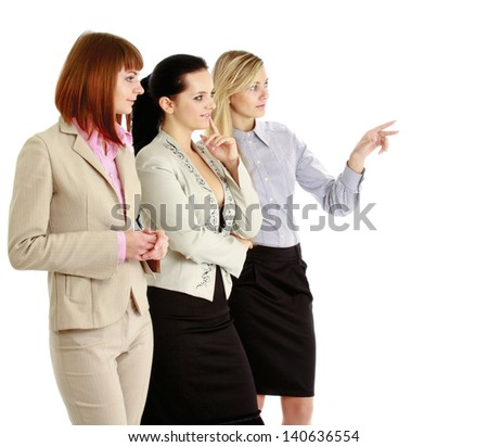 A portrait of businesswomen , isolated on white background