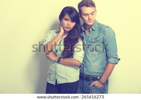 A portrait of chic Young Multiculture Couple