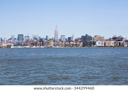A portrait of the city New York places and famous places - stock photo