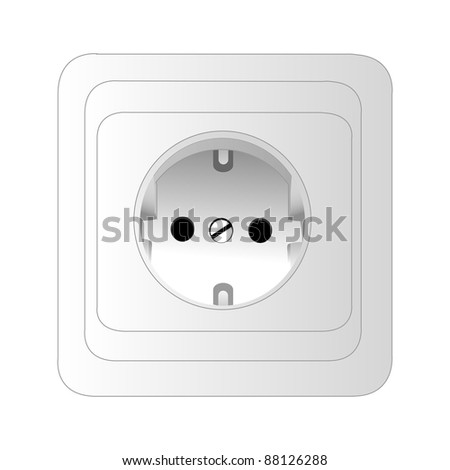 A power outlet. isolated object on white background