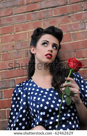 A pretty pin up girl. - stock photo
