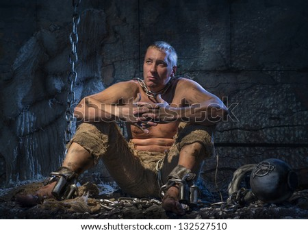 A prisoner in chains Stock Photos, Images, & Pictures ... Pictures Of Prisoners In Chains