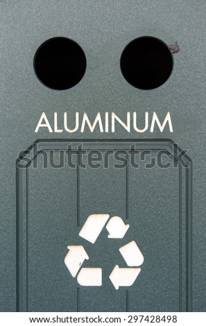 A public bin for recycling aluminum.  - stock photo
