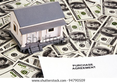 a purchase agreement paper for buying a house