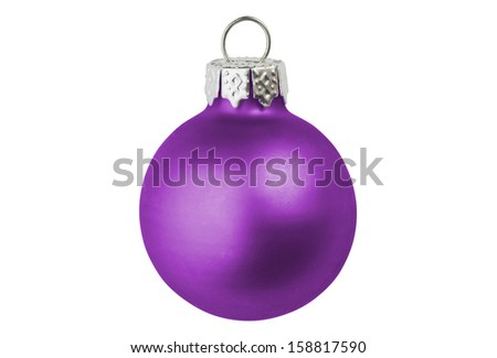 A purple christmas bauble. - stock photo